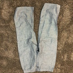 Express 7/8 capris jean color but super comfy